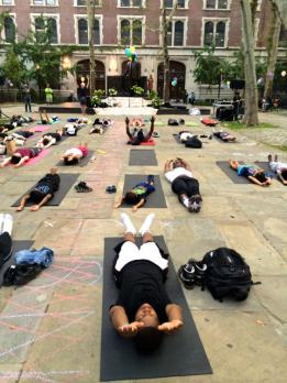 Urban Yogis class and concert with NYC Parks