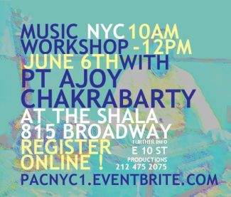 Indian Vocal Music workshop at The Shala, NYC