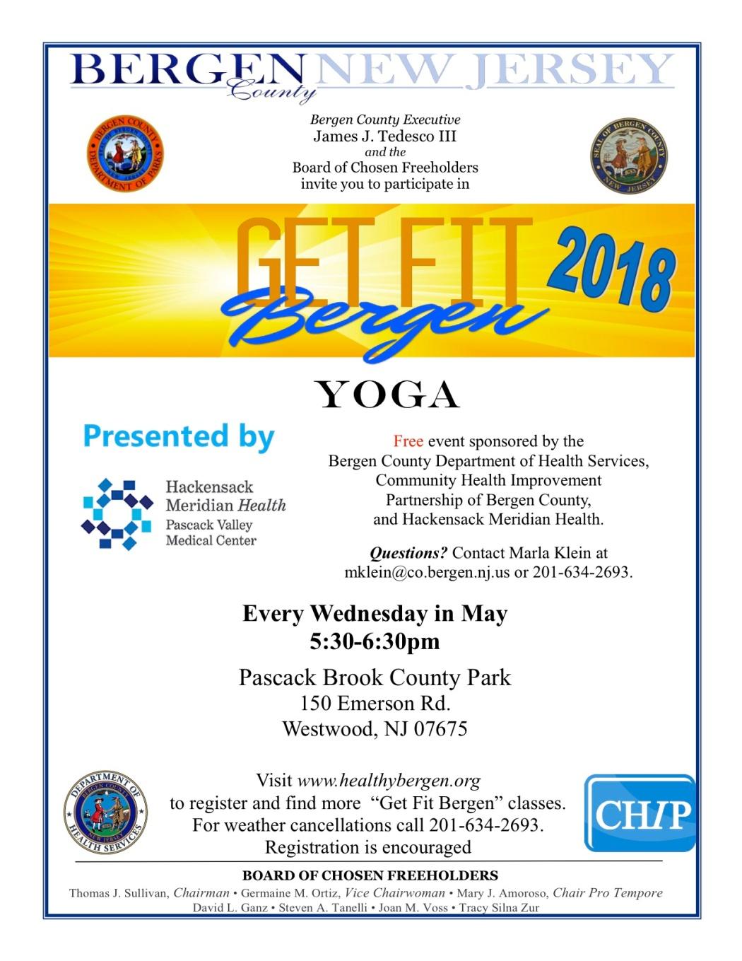 2018 - Flyer- Yoga - Pascack Brook