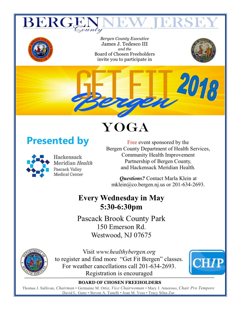2018 - Flyer- Yoga - Pascack Brook