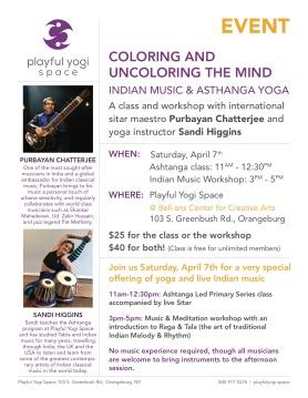 Raga Music & Ashtanga Yoga at Playful Yogi Space, NY