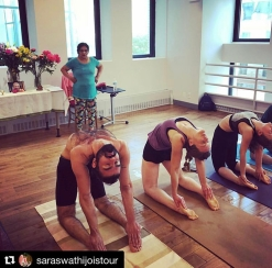 Led classes with Saraswati Jois in NYC